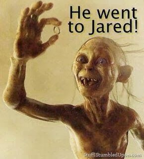 #gollum says He went to #jared   #precious  #LetsGetWordy: Funny Things, Geek Humor, Funny Pictures, The Hobbit, Lotr Humor, Funny Stuff, Funny Photos, So Funny, Jared Precious