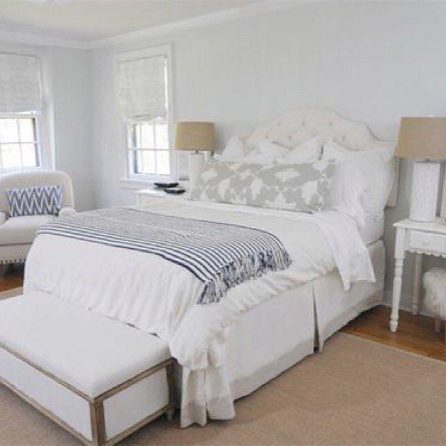 A peaceful and relaxed master bedroom! @pawleysislandposh    Double tab for more images.  #fortheloveoflinen #linen #bedlinen #tellmemore #interior4all #linenbedding #pureline #purelinenutrition #interiordecor #bedroomdecor #bedroominspiration #handmade #handmadebedding  #tailoredmade #instadaily #masterbedroom #bedroommakeover #tailoredbedskirt