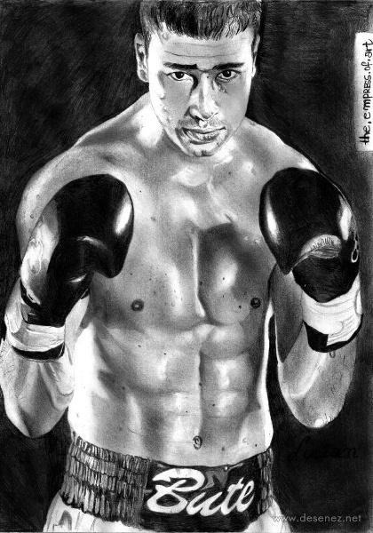 Un portret al lui Lucian Bute :)