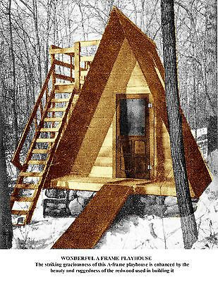 Build A A Frame Playhouse For Children Or Winter Retreat