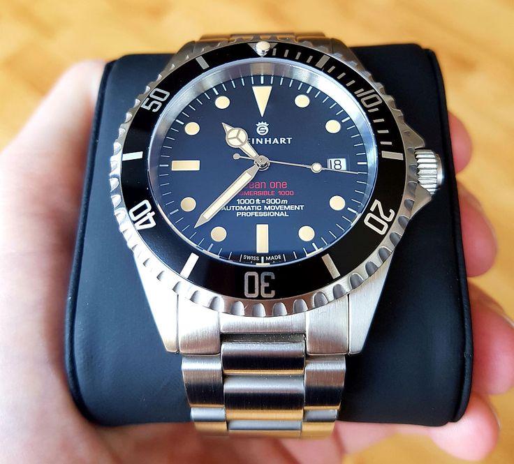 Steinhart Ocean One Vintage Red Taucheruhr Modische Armbanduhren Uhren Herren
