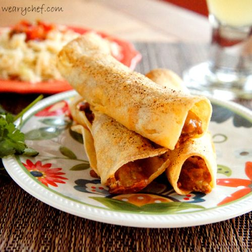 Baked Taquitos with Turkey and a Stowaway Vegetable - The Weary Chef