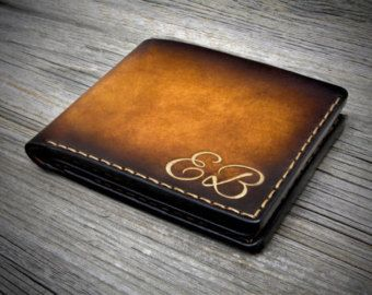 Hand-tooled Italian Leather Wallet for man. Carefully by Odorizzi