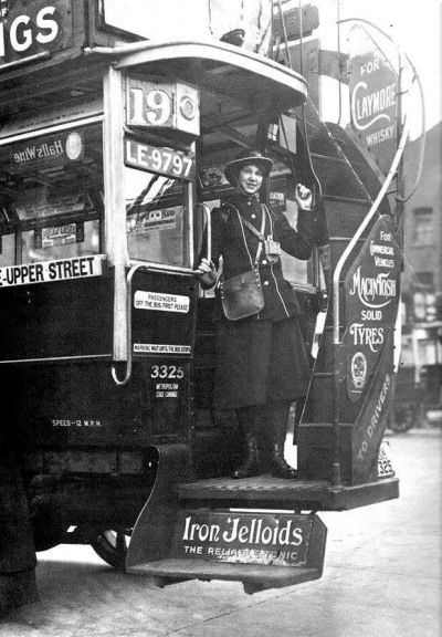 Bus and clippy, 1930s
