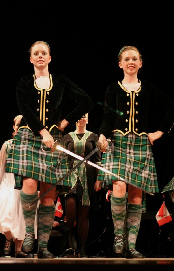 Young Canadian Highland Dancers in Cape Breton, Nova Scotia, Canada