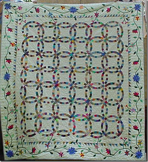 224 best Double Wedding Ring Quilts images on Pinterest Wedding