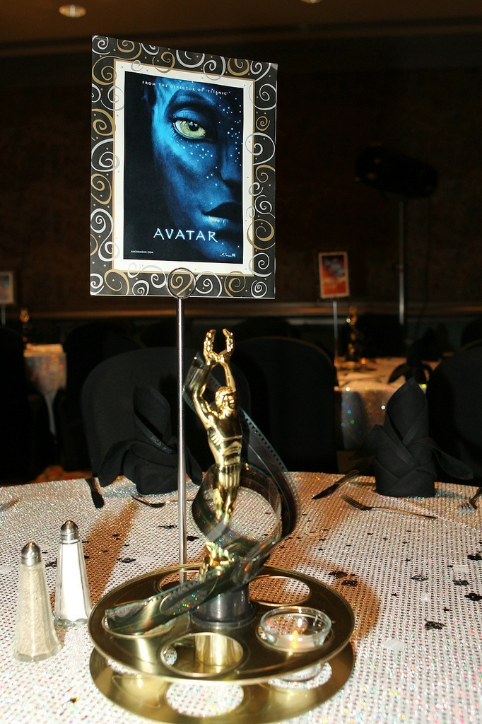 """Centerpiece for company """"People's Choice Awards"""" Banquet"""