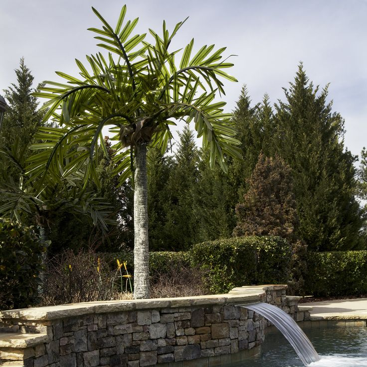 Outdoor Lighted Palm Trees from $907.99. Realistic commercial palm tree with lighted fronds that actually blow in the wind..