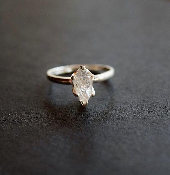 Unique Engagement Rings | POPSUGAR Fashion  ------Raw Diamond Ring ($108), raw and uncut diamond