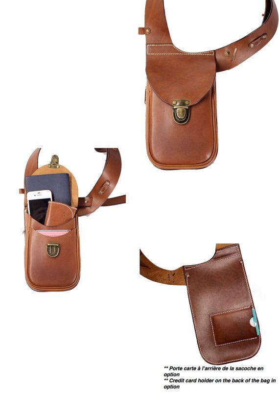 Leather holster bag DELUXE Leather shoulder por OakCreationCuir