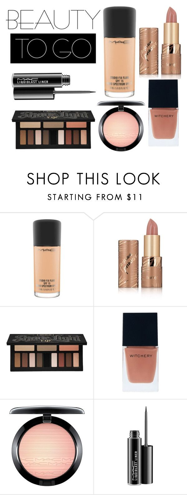 """Beauty Essencials"" by bloguerosa on Polyvore featuring beauty, MAC Cosmetics, tarte, Kat Von D and Witchery"