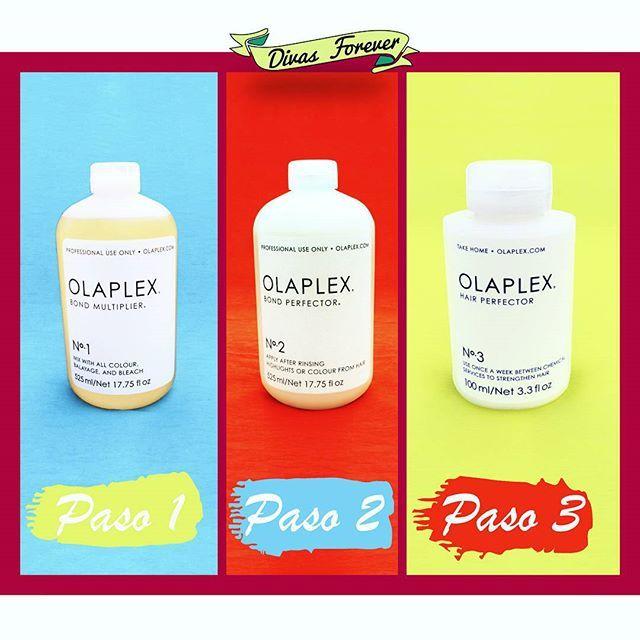 ✨Los 3 pasos de OLAPLEX, que dejan el cabello de no creerse.