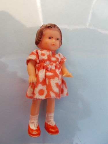 rubber vintage doll Germany cute little outfit.