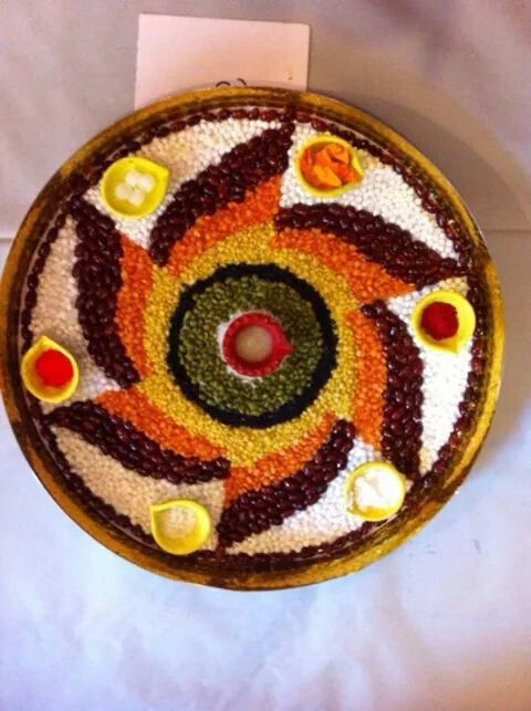 114 best arathi plate images on pinterest carnivals for Aarti thali decoration ideas for competition