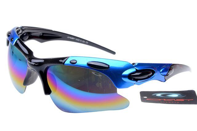 Polarized Hijinx Oakley Glasses For sale Blue Black Frame Rainbow Lens  $12.97