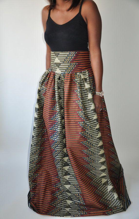 Super Thanks I Made Them African Inspired Full Maxi Skirt Hairstyles For Women Draintrainus