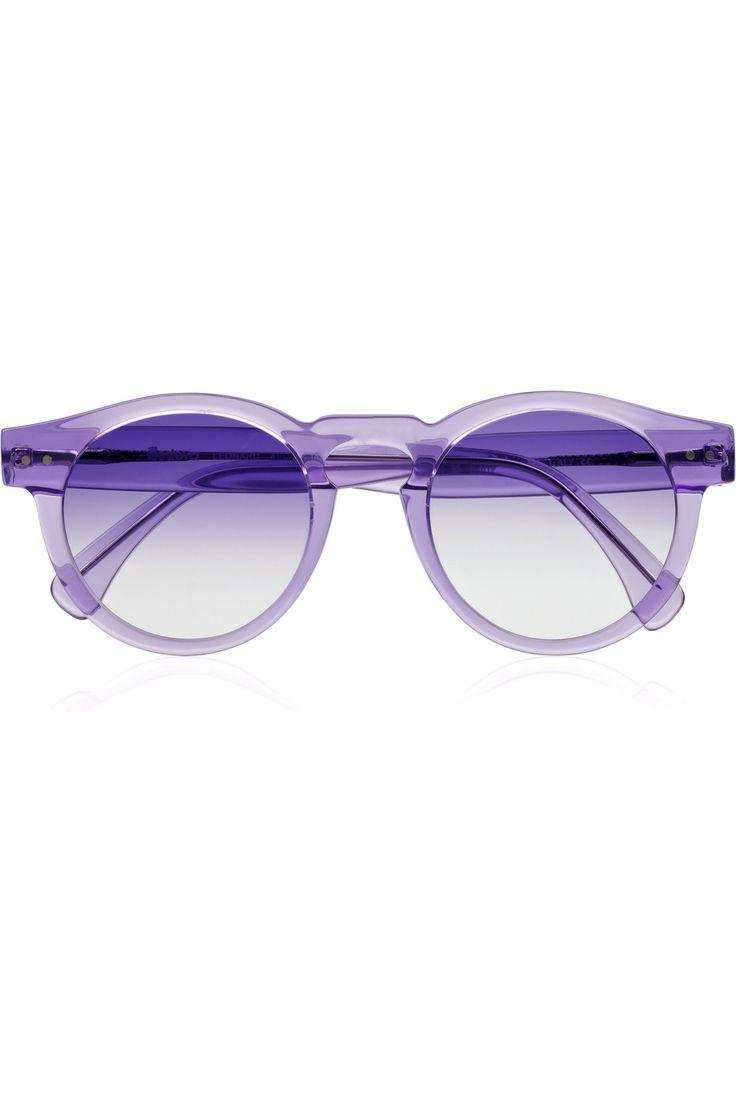 Purple perfection: Purple Sunglasses, Shades, Leonard Round Frame, Fashion Style, Purple Passion, Round Frame Acetate, Accessories, Illesteva Leonard, Acetate Sunglasses