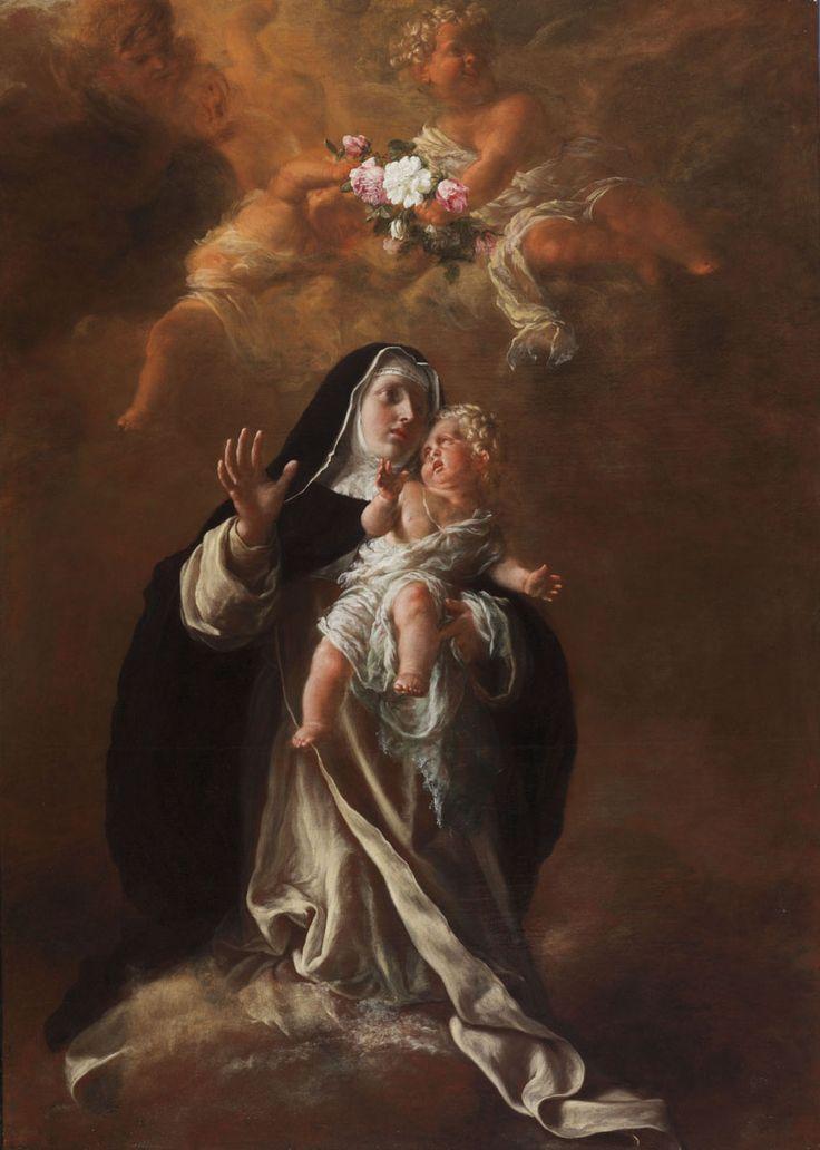 Saint Rose of Lima / Santa Rosa de Lima / Sainte Rose de Lima // 1651-1700 // André Lebre // © Musée des Augustins