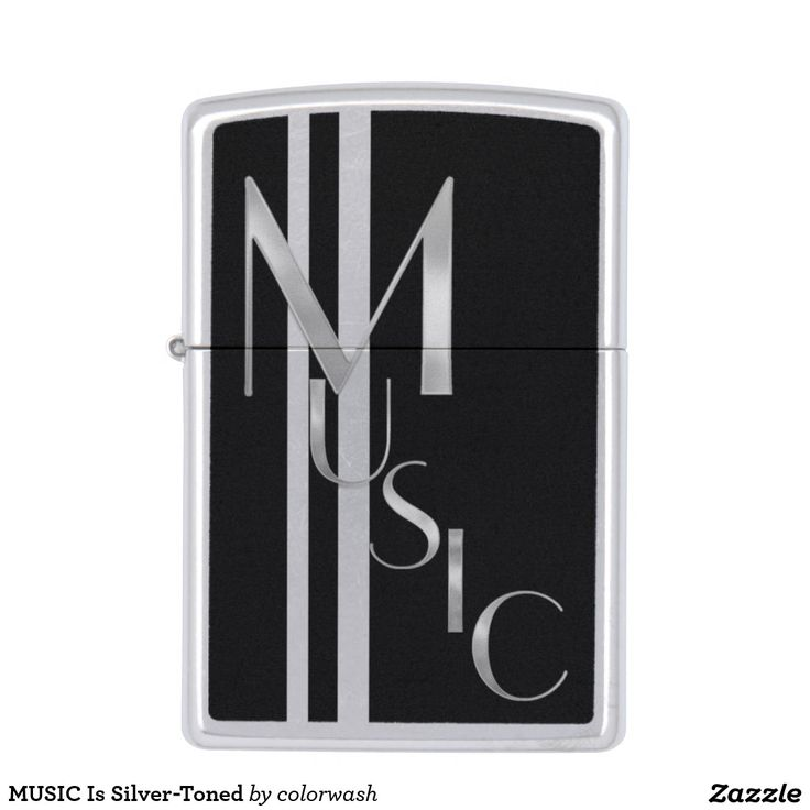 MUSIC Is Silver-Toned Zippo Lighter - This lighter with MUSIC spelled out in silver says it all: Music is what you love, music is what you do, music is precious. #Zippo #music #lighters