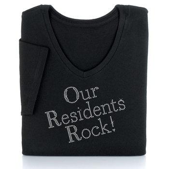 Our Residents Rock! Women's Cut Rhinestone T-Shirt Item ...