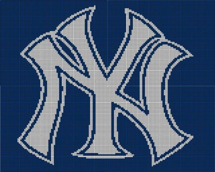 Ny Giants Crochet Afghan Pattern : New York Yankees Crochet Pattern Afghan Graph, New York ...