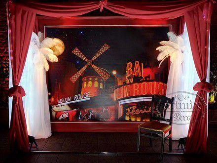 Незабываемое оформление свадьбы в Санкт-Петербурге,  утонченный богемный стиль «Мулен Руж» (Moulin Rouge)