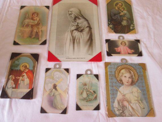 Vintage 8 Cadres religieux/ Vintage 8 religious Frames
