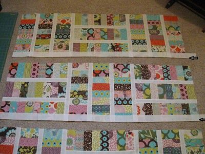 Free pattern - Moda Bake Shop: Sugar Pop N Change Quilt. Jelly roll quilt