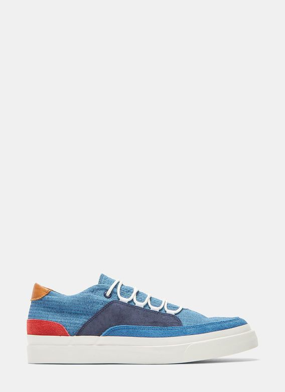 Men's Designer Trainers Shoes   Discover Now LN-CC - Shijira Contrast Panelled Low-Top Sneakers