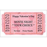 Free Movie Nite Tickets Template for Avery Business Card paper    Microsoft® Word, Business Card 5371, 5871, 8371, 8871, 8875, 8879
