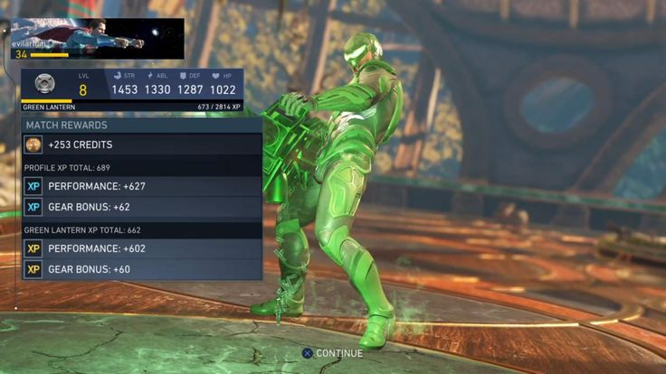 Injustice 2: It takes 2814 XP to get Green Lantern from level 8 to 9.