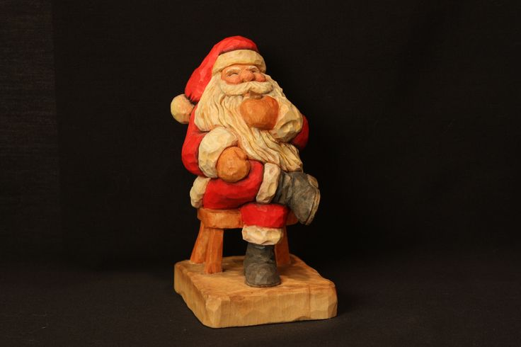 This is a santa i carved in class taught by harold enlow