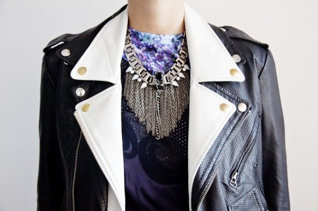 Double up on your biker jackets
