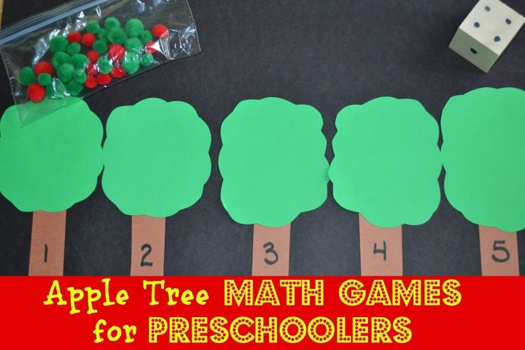 Apple math game for preschoolers - use it to practice counting and number correspondence