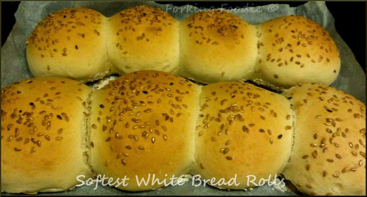 Softest White Bread Rolls - a no-fail method for beautifully soft and moist bread rolls, makes 8 in around 1 hour, 251 calories each, delicious warm and buttered with soup, or filled with juicy butcher's bacon, or perfect topped with sesame seeds as burger buns.