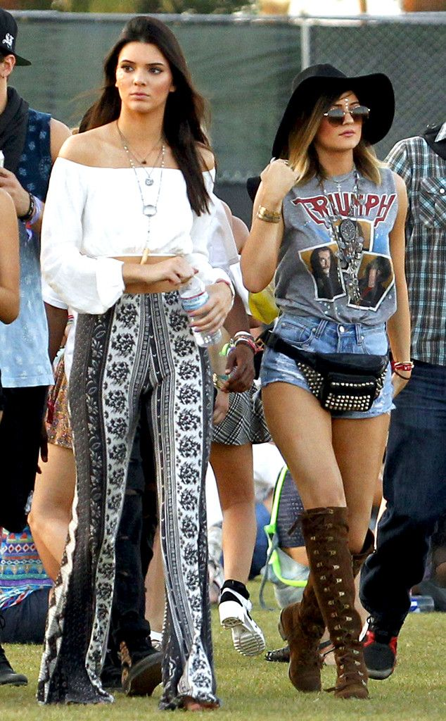 Kylie Jenner & Kendal Jenner from 2014 Coachella Star Sightings   E! Online