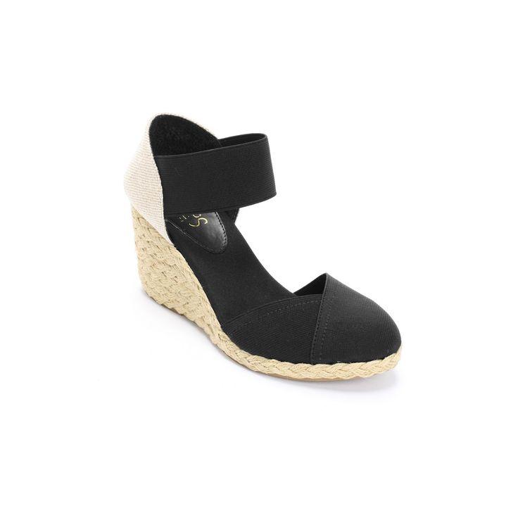 Chaps Chelsi Women's Espadrilles, Size: 7.5 B, Black