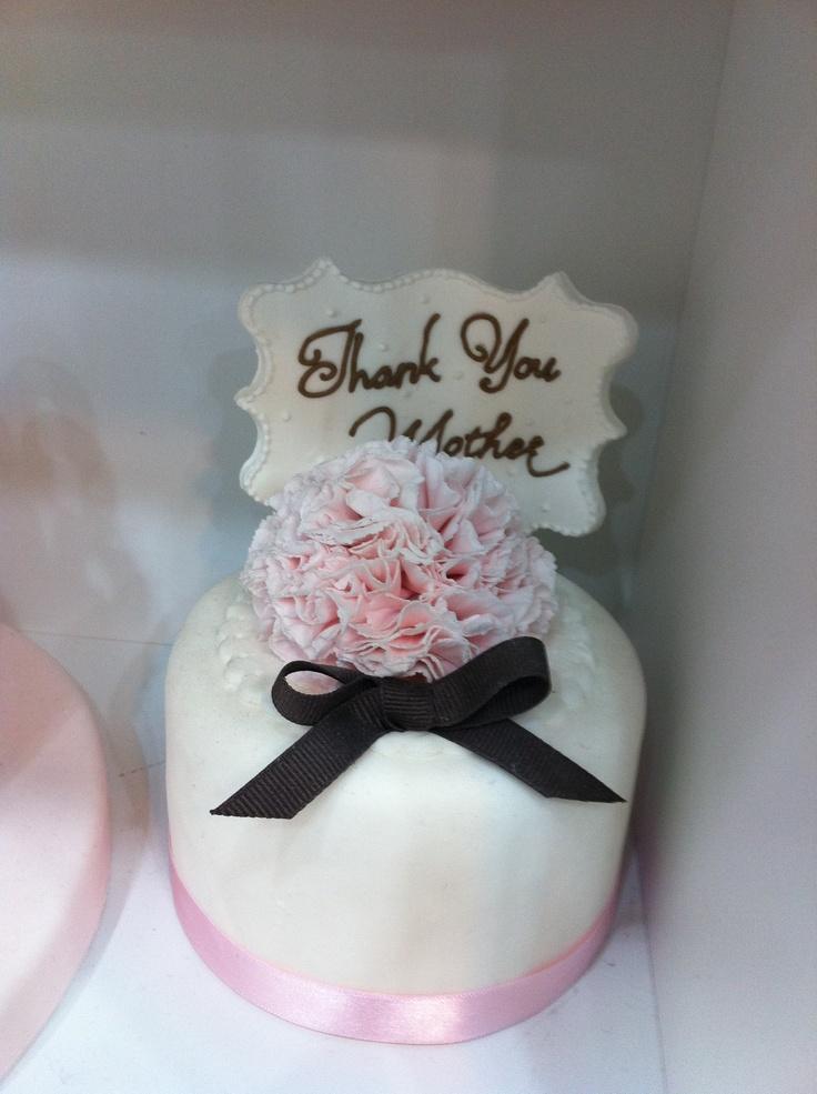 Thank you mother~ #sugar craft cake, wedding cake