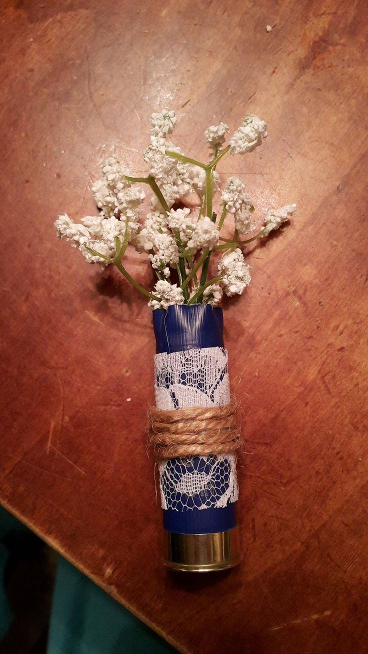 Homemade shotgun shell boutonniere!