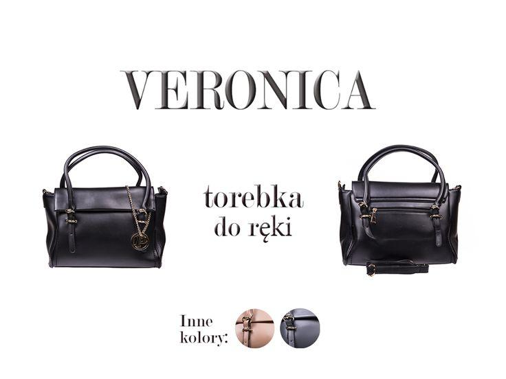 Torebka Veronica, elegancki dodatek w 3 wersjach kolorystycznych: http://www.perfectto.eu/veronica-torebka-do-reki. Doskonale wygląda w zestawieniu z małą czarną oraz z marynarką.:) #czarnatorebka