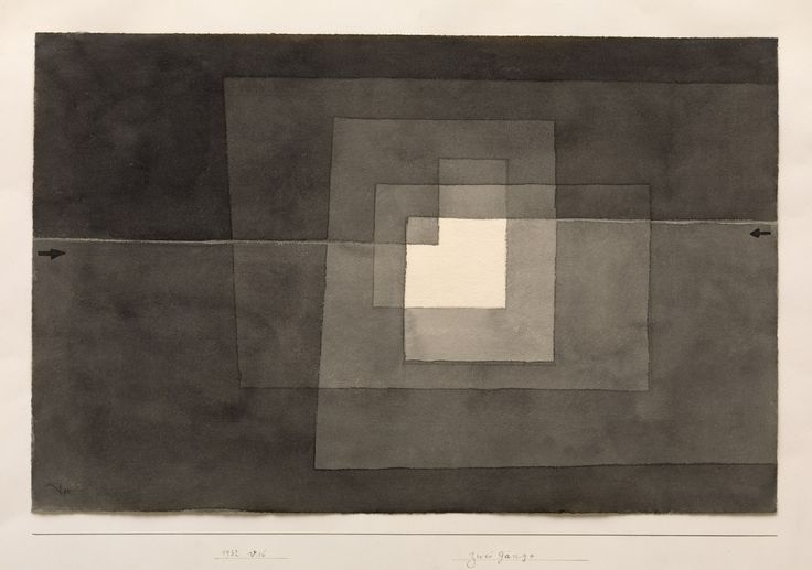 Paul Klee, Two Ways, 1932. Watercolor on paper, mounted on paper, sheet: 12 1/4 x 19 inches (31.3 x 48.4 cm); mount: 17 1/2 x 24 inches (44.3 x 61 cm)