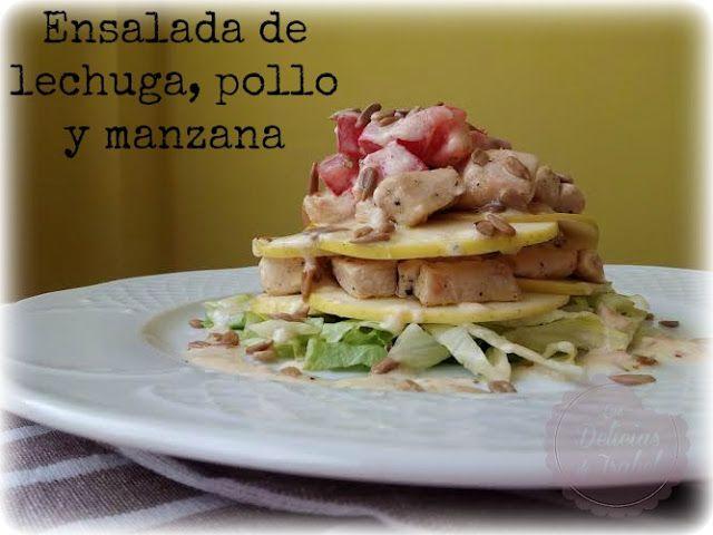 Ensalada de lechuga, pollo y manzana | Las Delicias de Isabel