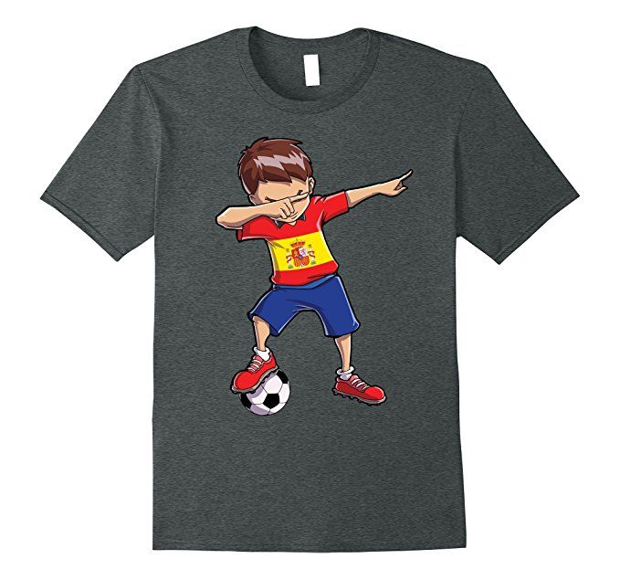 Dabbing Soccer T shirt for Boys Spain Spanish Football Gifts  Clothing a42d5904d