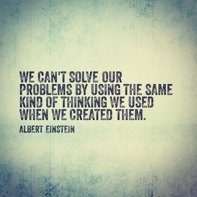 We need to solve the problem from a different perspective. It only creates more conflict if we keep using the same argument over and over. #problemsofconflict #changeyourthinking