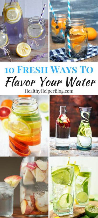 10 Fresh Ways to Flavor Your Water | Healthy Helper @Healthy_Helper Take your water from flat to FANTASTIC with these easy, homemade flavored water ideas! Hydration can be a chore. Make it more appealing with these delicious beverage options. AD KnowYourWater