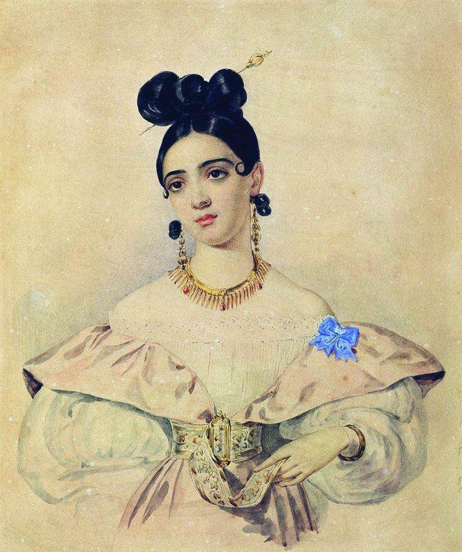 The Athenaeum - Portrait of A.D. Baratynskaya (Alexander Brulloff - )