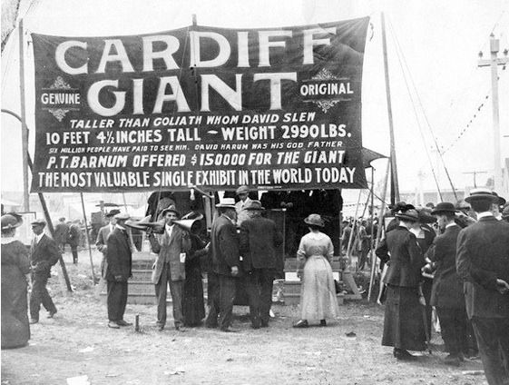 hoaxes deception and cardiff giant Special events focusing on the cardiff giant hoax will be taking place between  october 16th and october 31st please see the sidebar to the right of this page.
