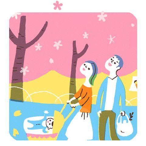 【hisa_nishiya】さんのInstagramをピンしています。 《#illustration#illustrations#illustrator#art#arte #artwork #my work#painting #drawing#FF #tbt#follow#instadaily#nishiya_hisa#family#cute#イラスト#イラストレーション#イラストレーター#お花見#桜#家族》