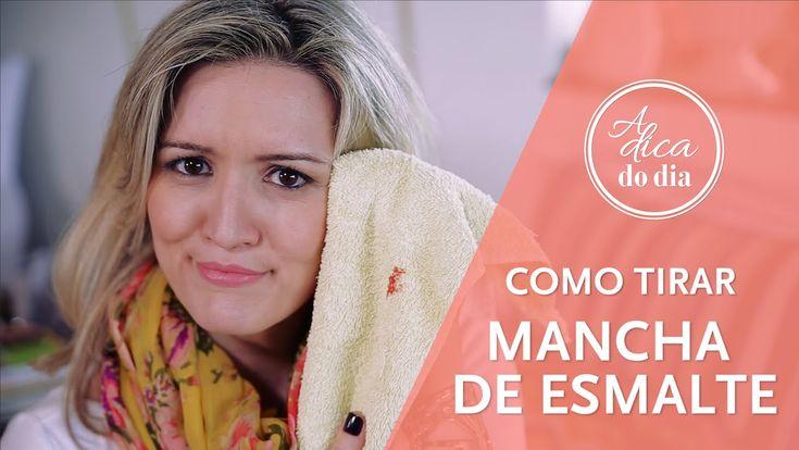 COMO TIRAR MANCHA DE ESMALTE - A Dica do Dia