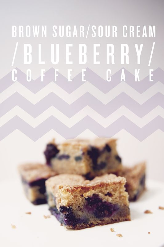 Brown Sugar Sour Cream Blueberry Coffee Cake via The Kitchy Kitchen